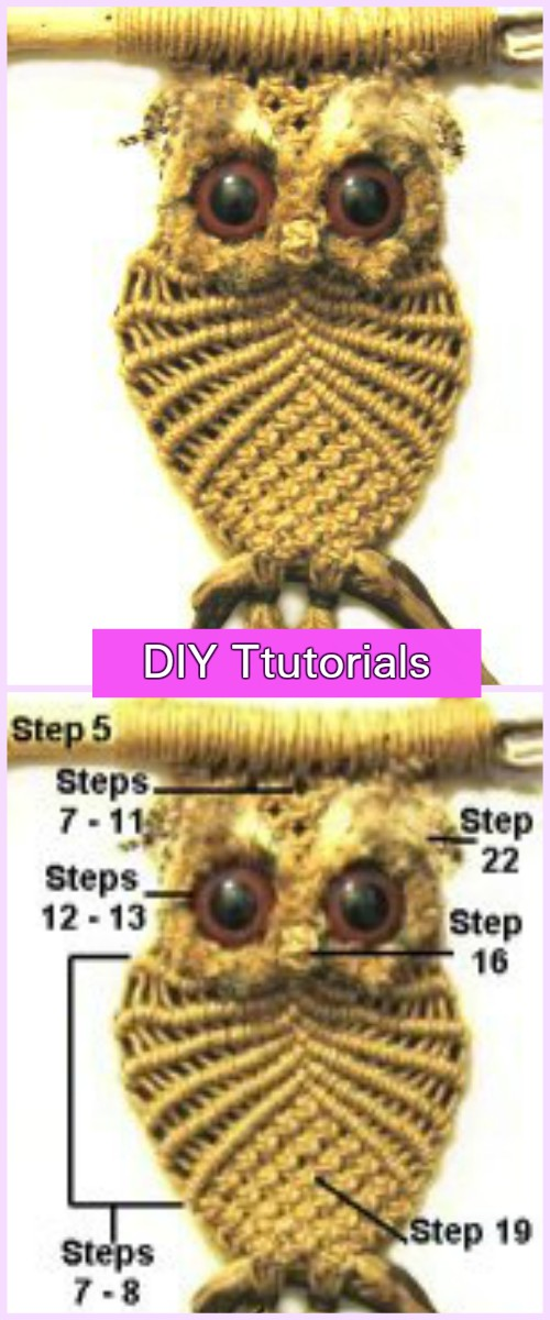 DIY Macrame Owl Tutorial Step by Step