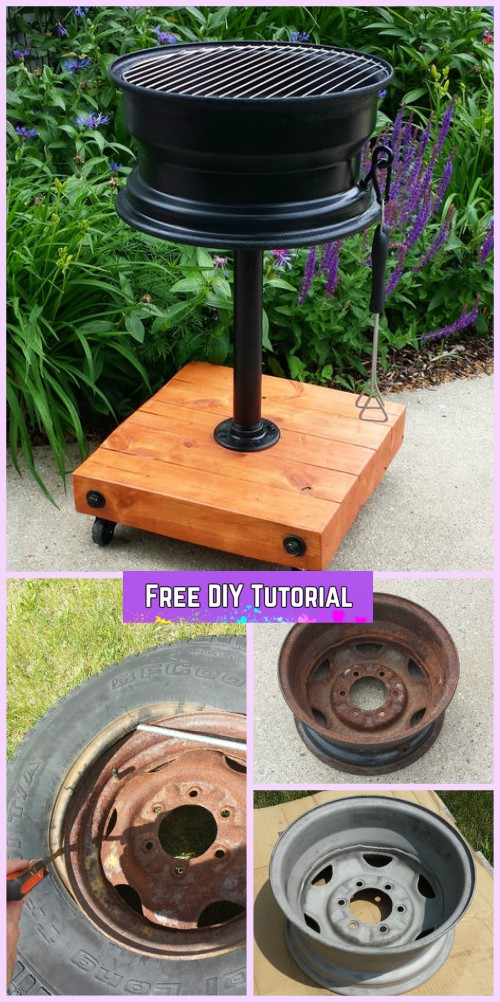 DIY No Welding Tire Rim Grill Tutorial