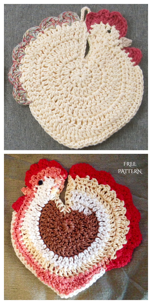 Easter Chicken Potholder Free Crochet Patterns