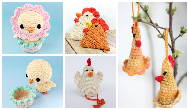 Easter Crochet Chicken Free Patterns & Instruction [Easter Decor] | 361x616