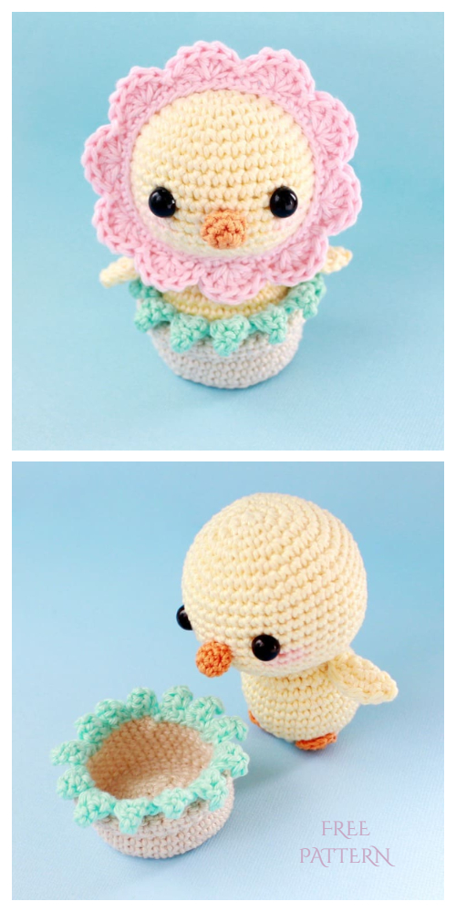 Easter Crochet Chicken Free Patterns- Crochet DROPS Easter chickens Free Pattern