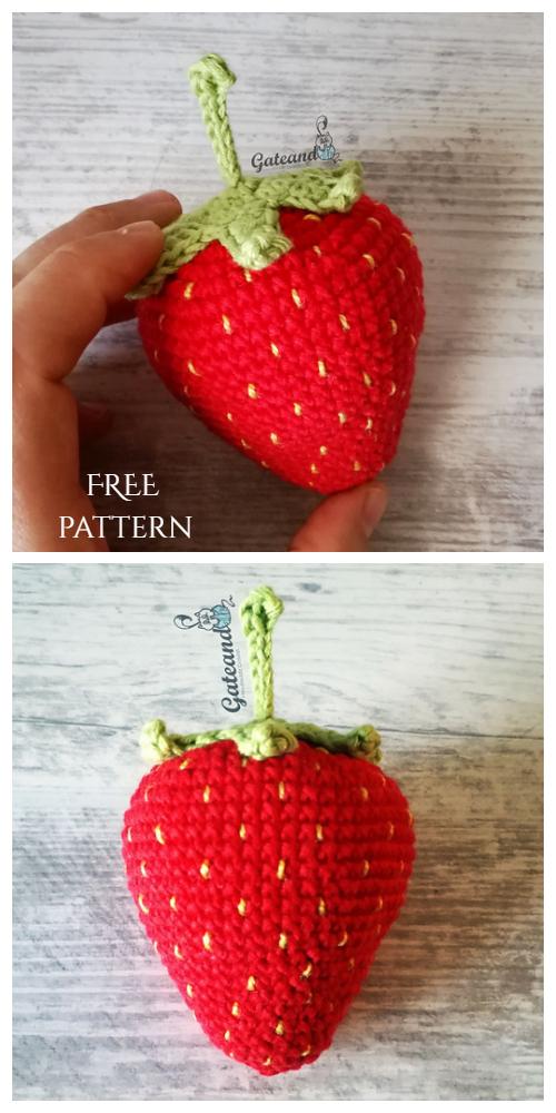 Crochet Strawberry Amigurumi Free Pattern