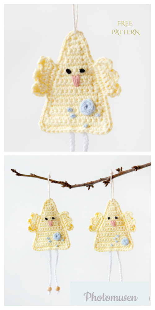Happy Easter Chick Ornament Free Crochet Patterns