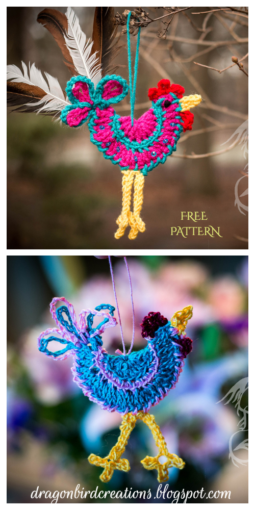 Happy Easter Rooster Of My Dreams Ornament Free Crochet Patterns