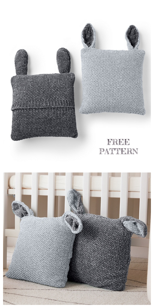 Knit Bunny Pillow Pal Free Knitting Patterns