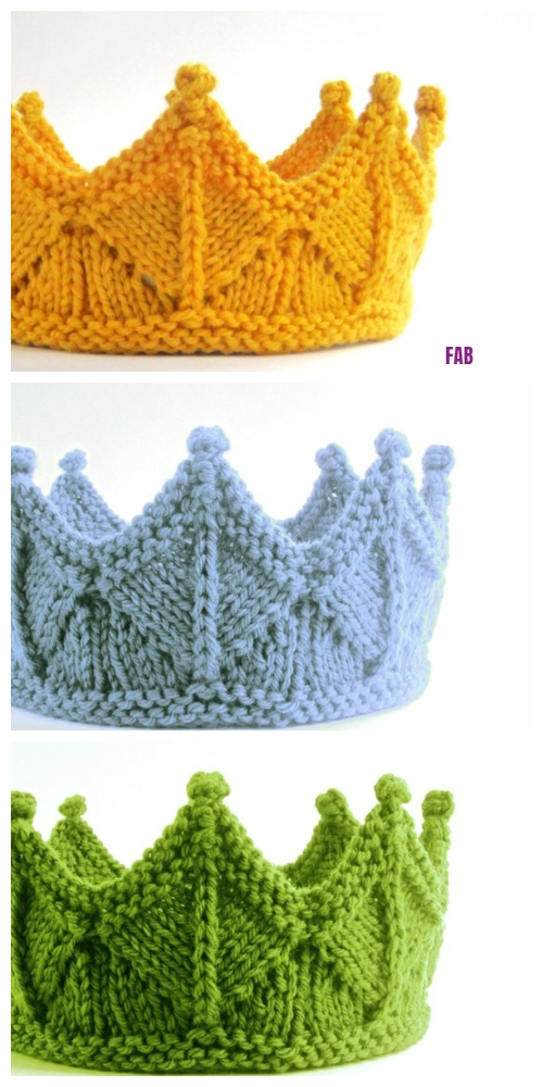 Knit Circlet Crown Headband Free Knitting Pattern