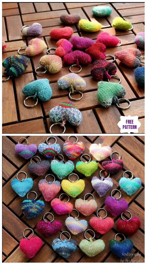 Knit Heart Softies Free Knitting Patterns - Video