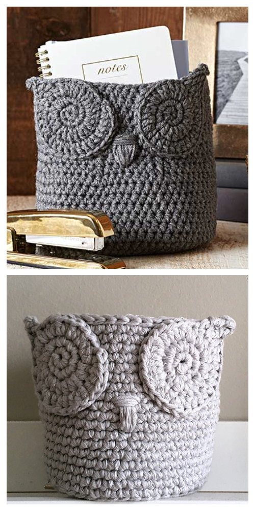 Crochet Owl Basket Free Crochet Patterns