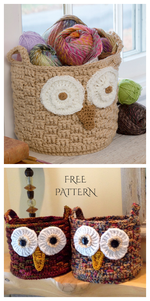 Crochet It's a Hoot Owl Container Free Pattern with Video