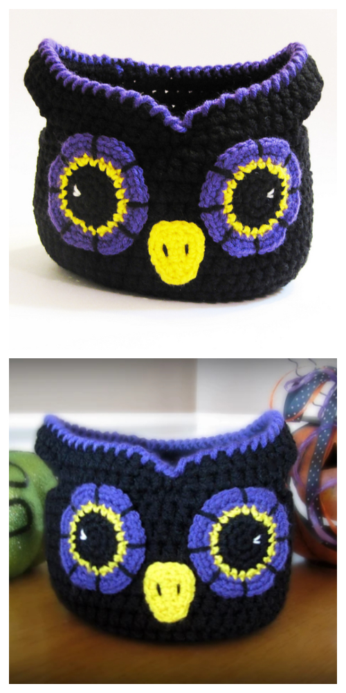 Little Owl Storage Basket Crochet Patterns