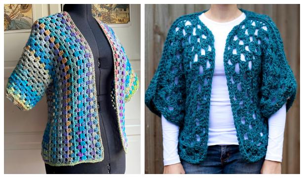 Ladies Granny Shrug Free Crochet Patterns