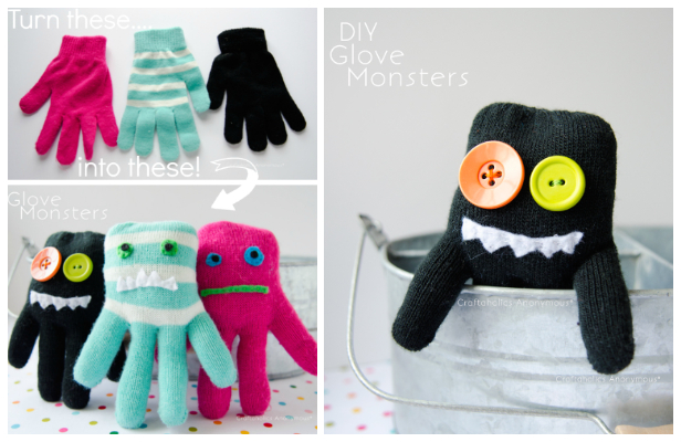 DIY Glove Monster Sewing Tutorials for Kids Fun