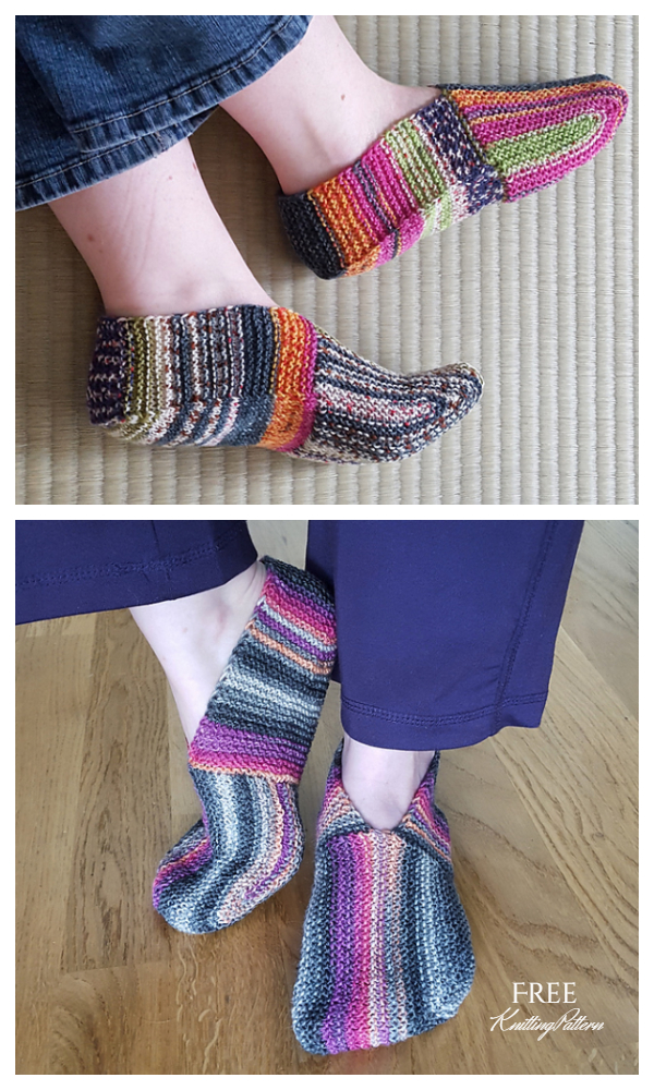 Garter Stitch Undecided Slippers Free Knitting Patterns