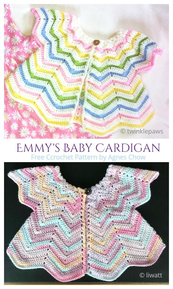Emmy's Chevron Baby Cardigan Free Crochet Pattern