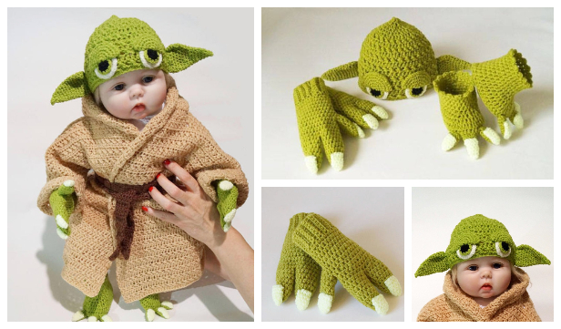 Crochet Baby Yoda Costume Pattern, Good Gift Idea for Newborn