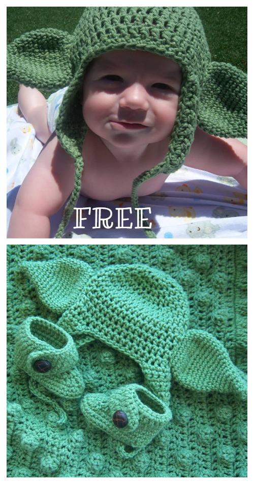 Baby Yoda Ears Costume Free Crochet Pattern