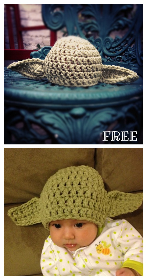 Warm Yoda Baby Hat Free Crochet Pattern