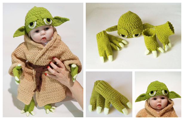 Crochet Toddler Kids Yoda Costume Pattern