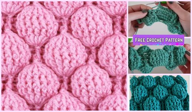 Crochet Balloon Stitch Free Pattern with Video Tutorial
