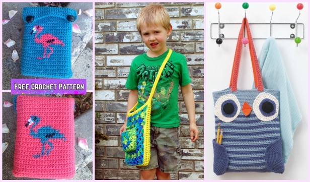 Crochet Book Bag Free Patterns - Crochet Coloring Book Tote Free Pattern