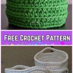 Crochet Chunky Basket Free Patterns