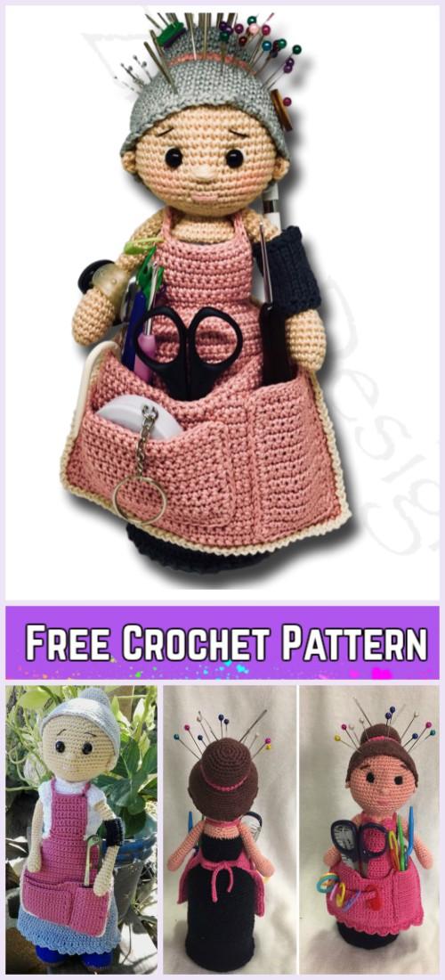 Crochet Crafter Granny Doll Amigurumi Free Pattern
