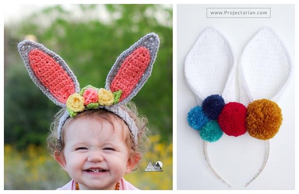 KNITTING PATTERN  BABY-ADULT BUNNY RABBIT EARS EASTER HEADBAND FRANSKNITS PDF