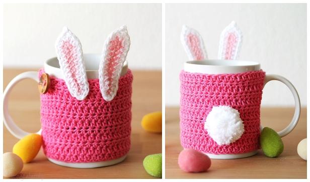 Crochet Easter Bunny Mug Cozy Free Crochet Patterns