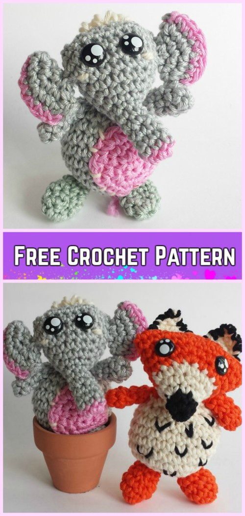 Crochet Elephant Plush Toy Amigurumi Free Patterns-Crochet Amigurumi elephant Free Pattern