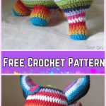 Crochet Elephant Plush Toy Amigurumi Free Patterns-Crochet Lovely striped elephant Free Pattern