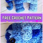 Crochet Elephant Plush Toy Amigurumi Free Patterns-Crochet Granny Square Elephant Amigurumi Free Pattern