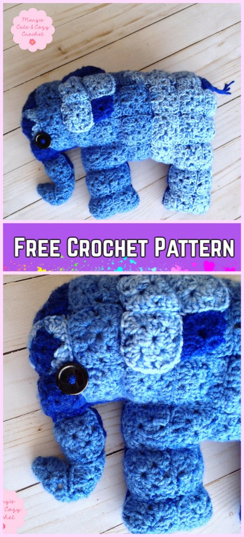 The Sweetest Crochet Elephant Patterns To Try | The WHOot | 1100x500