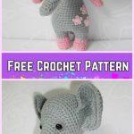 Crochet Elephant Plush Toy Amigurumi Free Patterns-Crochet Amigurumi Baby Elephant Free Pattern