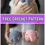 Crochet Elephant Plush Toy Amigurumi Free Patterns-Crochet Little Elephant Amigurumi Free Pattern with Video Tutorial