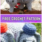 Crochet Elephant Plush Toy Amigurumi Free Patterns-Crochet Elephant Elephant Amigurumi Free Pattern
