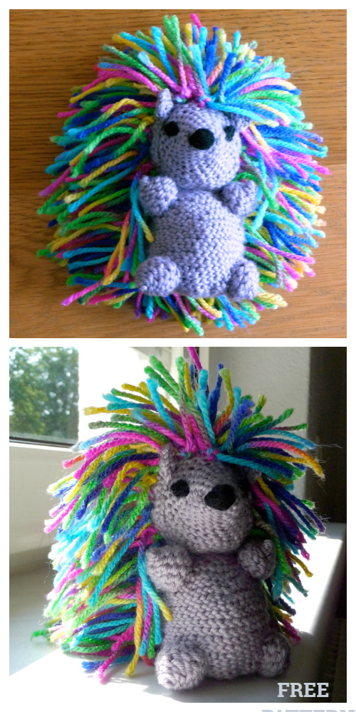 Crochet Hedgehog Punk Amigurumi Free Patterns
