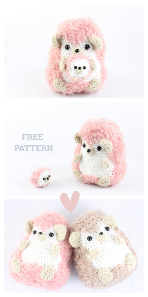 Crochet Hedgehog Family Amigurumi Free Patterns