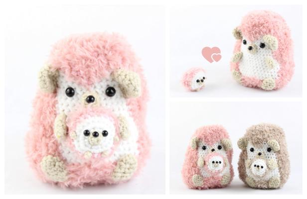 Crochet Hedgehog Family Amigurumi Free Patterns