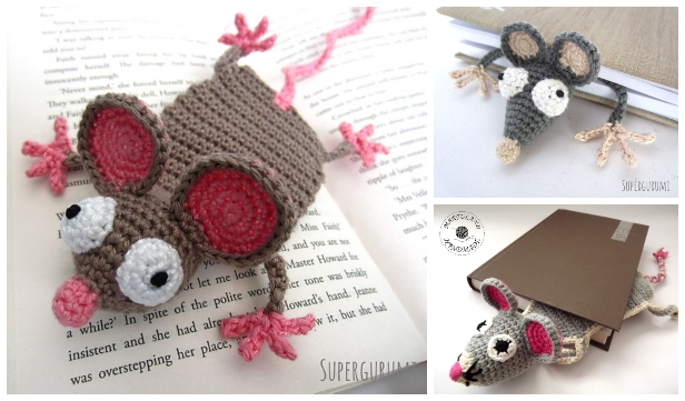 Crochet Rat Bookmark Amigurumi Free Patterns with Video