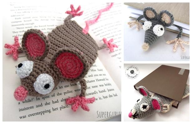 Crochet Mouse Bookmark Amigurumi Free Patterns