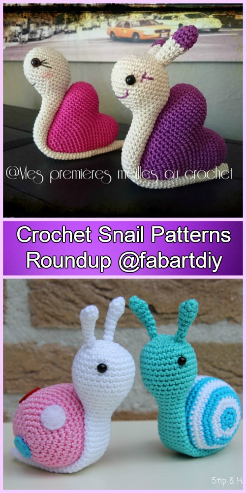 Crochet Snail Amigurumi Free Patterns and Paid