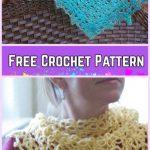 Crochet Solomon Knot Stitch Shawl Free Patterns