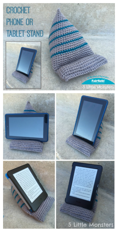 Phone or Tablet Stand Free Crochet Pattern