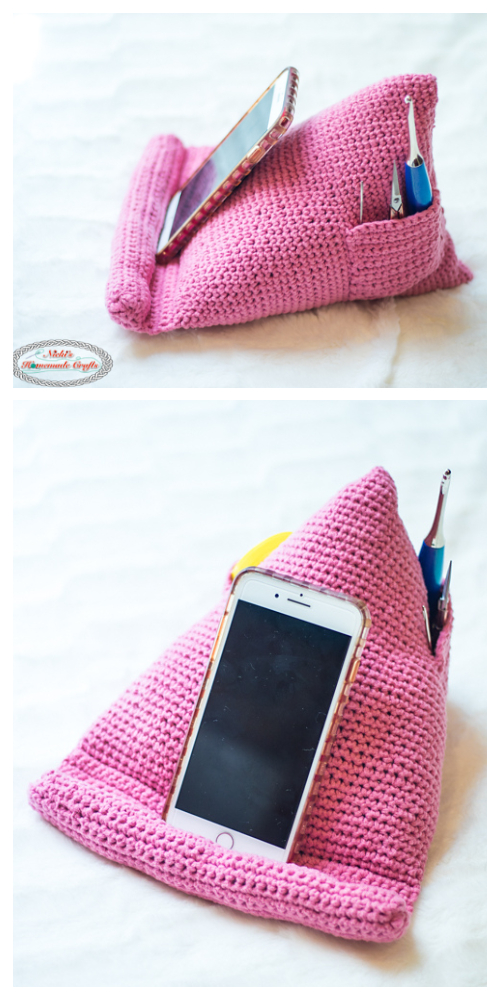 Phone Tablet Book Stand Free Crochet Pattern