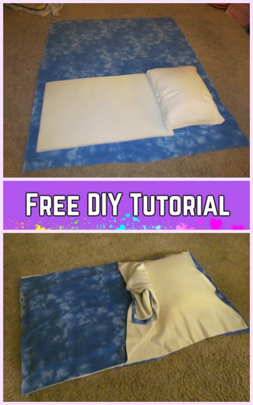 DIY Baby Pillowcase Sleeping Bag Nap Mat Tutorials