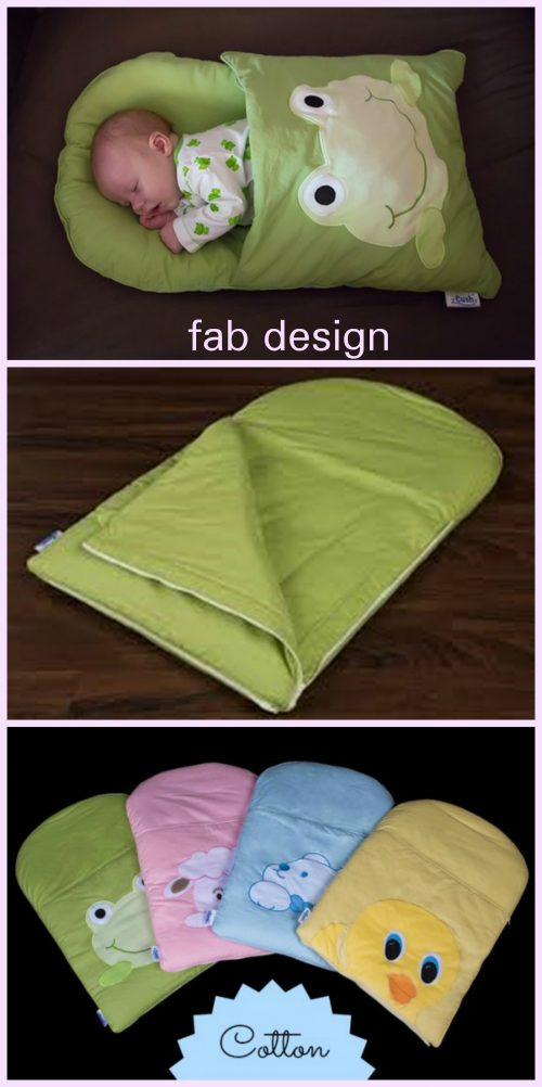 DIY Baby Pillowcase Sleeping Bag Nap Mat Tutorials