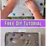 DIY Footprint Stepping Stone Tutorial
