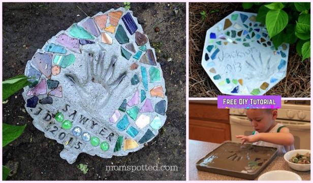 DIY Handprint Concrete Stepping Stone Tutorials