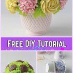 DIY Flower Cupcake Bouquet in Pot Tutorials-DIY Blooming Cupcake Bouquet in 5 Steps