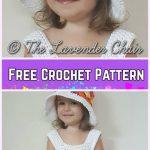 Little Girls uiver Fans Dress&Hat Set Crochet Free Patterns